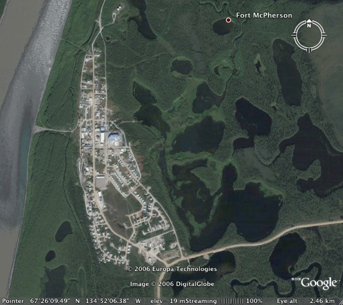 Fort McPherson, Northwest Territories, Canada, is home to almost 800 people, primarily of Gwich'in decent.